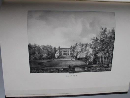 De hofstede Elswout van mevrouw de weduwe Borski (litho P,J,Lutgers, 1837-1844)