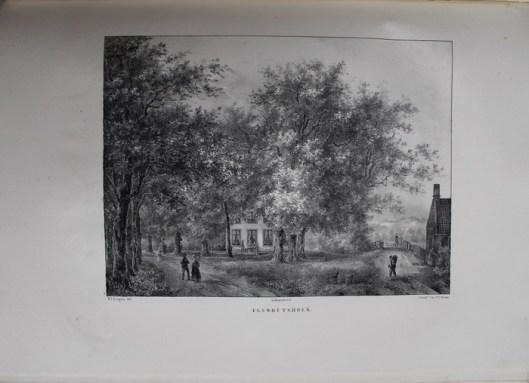De hofstede Elswouthoek, bewoond door de heer J.van der Vliet (P.J.Lutgers, circa 1840)