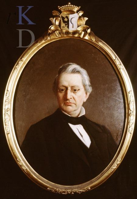 Portret van Johannes Enschede (1851-1911), eigenaar van Ipenrode van 1907-1911