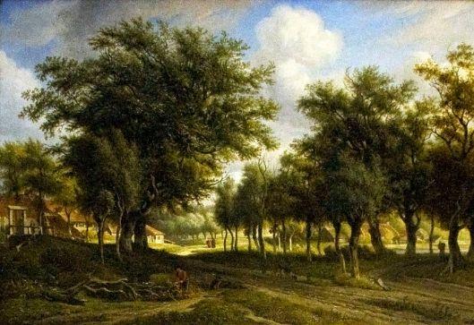 Landschap in Heemstede. Schilderij door Arnoldus Johannes Eymer (Teylers Museum,).