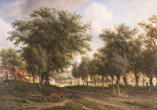Schilderij van een landschap bij Heemstede door A.J.Eymer (1803-1863) (Teylers Museum Haarlem)