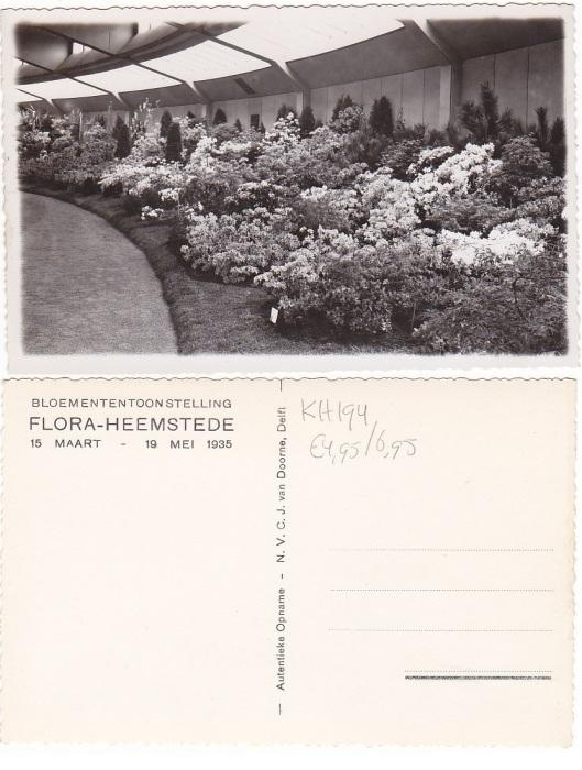 Flora-kaart van bloemenpaleis