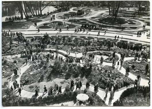 Ansichtkaart van Flora 1953