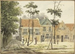 Herberg Foruin in De Hout, anon ieme aquarel toegeschreven aan H.Taveniet (N.H.A,)