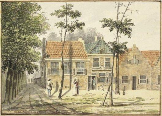 Herberg de Fortuin in de Hout; door Hendrik Tavenier, circa 1775.