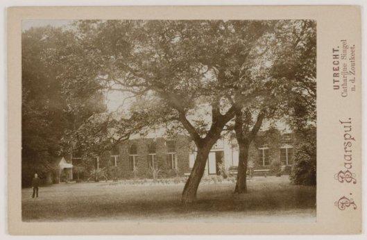 Oranjerie Meer en Berg Heemstede, in 1899 uitgegeven fotokaart ter gelegenheid van het Zendingsfeest.