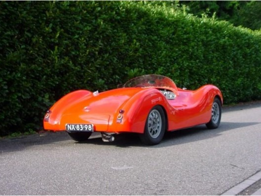 Een momenteel te koop staande 'Gatso 1500 cabriolet, bouwjaar 1948, ook bekend als 'Platje'