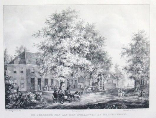 Litho van etablissement de Geleerde Man (P.J.Lutgers, 1837-1844)