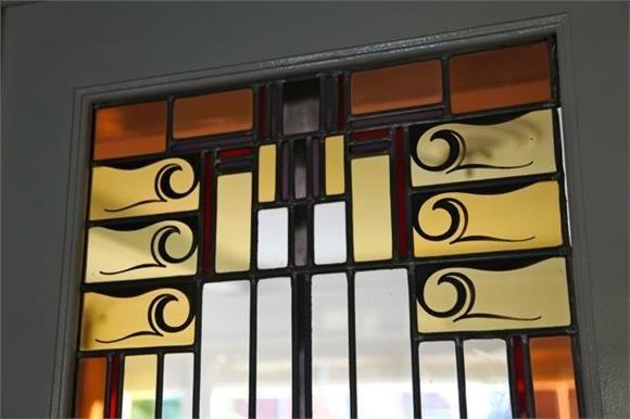 Glas in lood-raam, Zomerlaan 25, Heemstede