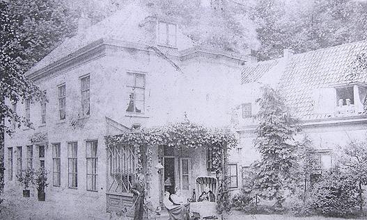 Foto van de Gliphoeve uit begin 1900
