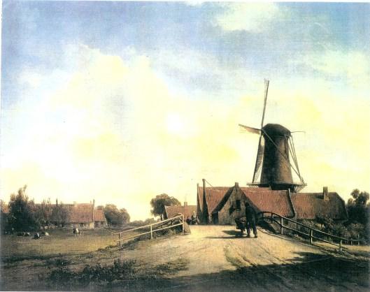 Molen de Nachtegaal op de Glip, geschilderd door Willem Vester