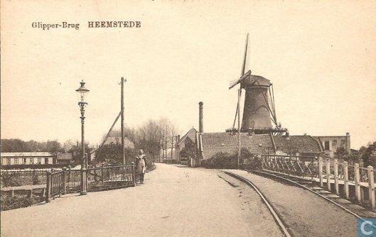 De oude Glipperbrug omstreeks 1920