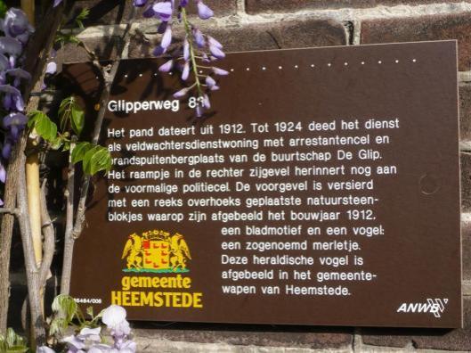 ANWB-monumentenbordje pand Glipperweg 72