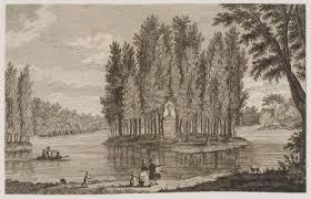 Het zogenaamde 'graf van Rousseau' op het Keukenduin bij Meer en Berg. Tekening uit 1806 van F.A.Milatz.