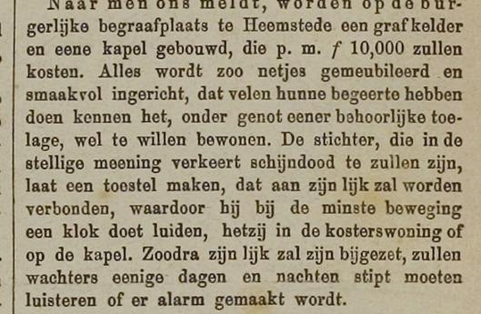 Bericht uit het Leidsch Dagblad van 7-6-1883