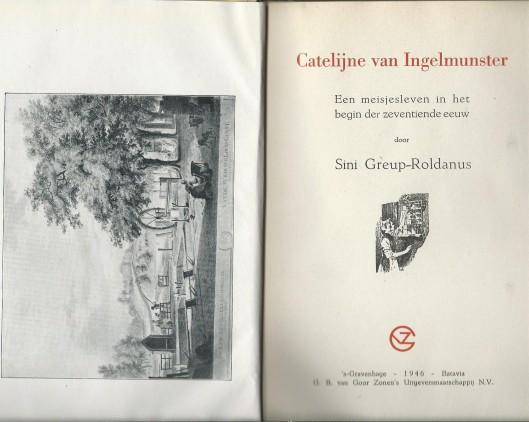 Titelblad van roman Catalijne van Ingelmunster, door Sini Greup-Roldanus (1946).
