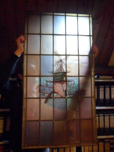 Glas-in-loodraam van het Molentje in Groenendaal