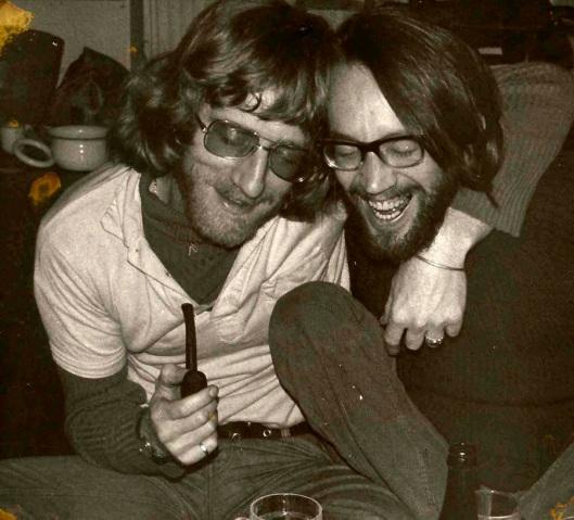 Guido (rechts) en Peter van Tilburg 1972