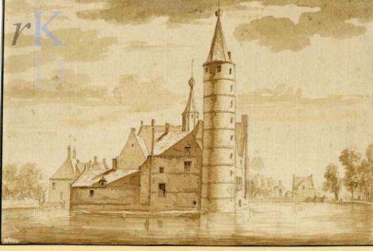 Het Huis te Heemstede in 1722, toegeschreven aan Abraham de Haen.
