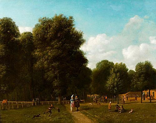Gezicht in de Haarlemmerhout, door G.A.Berckheyde (1638-1698)