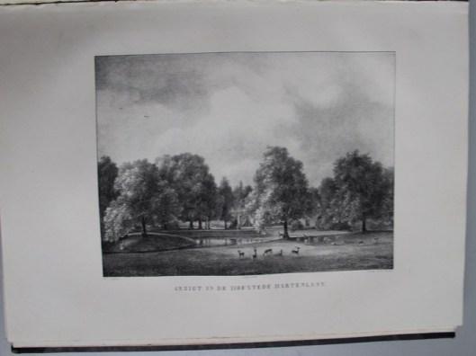 Het park van Hartelust, getekend door P.J.Lutgers
