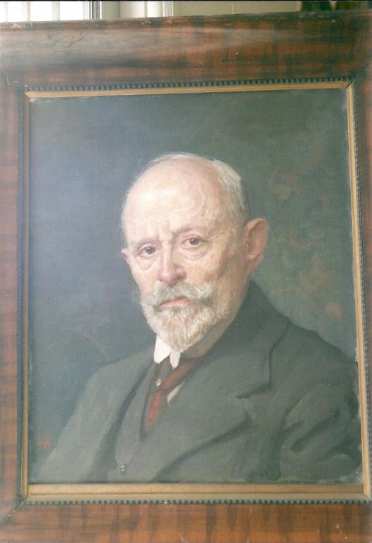 Portret van kunstschilder A.L.Koster geschilderd door Louis Hartz