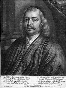 Jacobus Heiblocq (1623-1690). Gegraveerd portret uit 1673 door W.Vaillant