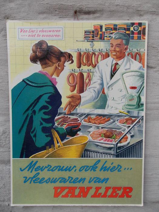 Het tweede voorbeeld van middenstandsrijm voor voorheen. worstfabriek van Lier uit Enschede