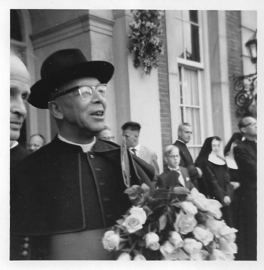 Regent dr. J.C.Henning bij zijn 25-jarig jubileum op Hageveld in 1962 (site Hans Dornseiffen)