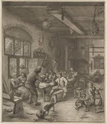 Nog een interieur van een herberg door Adriaen van Ostade, mogelijk in de Haarlemmerhout (Museum Boymans van Beuningen)