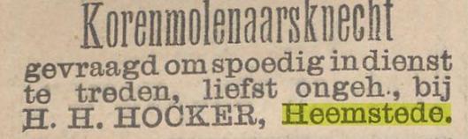 Advertentie voor een molenaarsknecht uit Nieuws van den dag, 7-9-1896