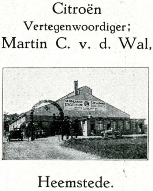 Afbeelding van vroegere automobiel- en vliegtuigfabriek Humo aan de Herenweg in Heemstede