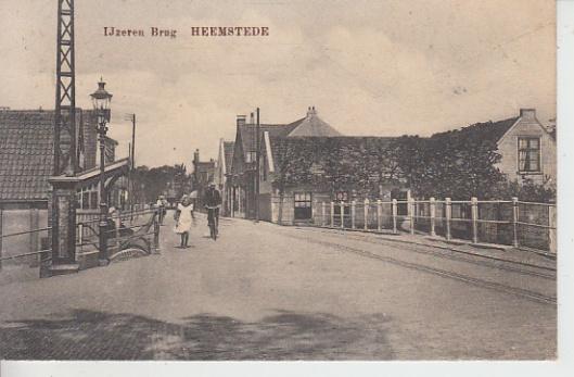 De IJzeren brug op een ansichtkaart uit 1815
