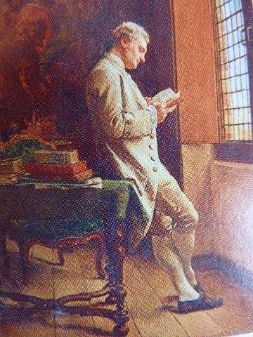 Illustratie van Casanova in het kasteel van Dux