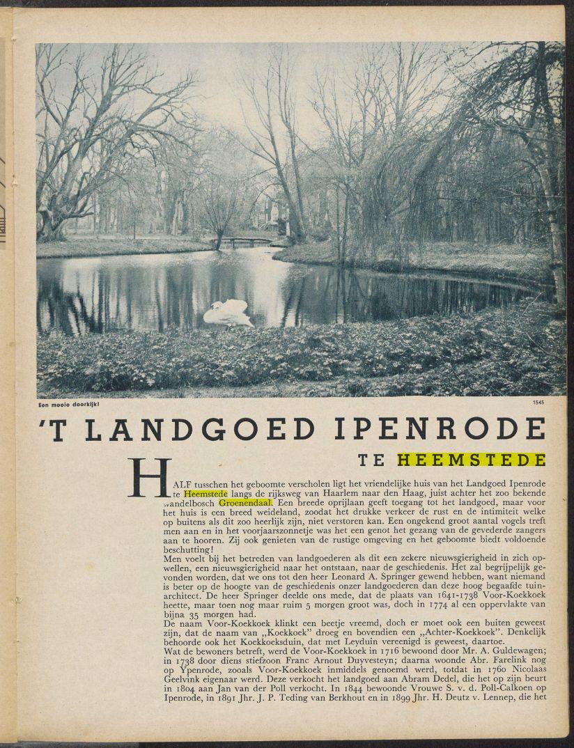 Uit: Het Landhuis, jaargang 30, 1935, nummer 10