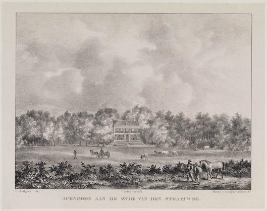 Litho van Ipenrode door P.J.Lutgers, circa 1843