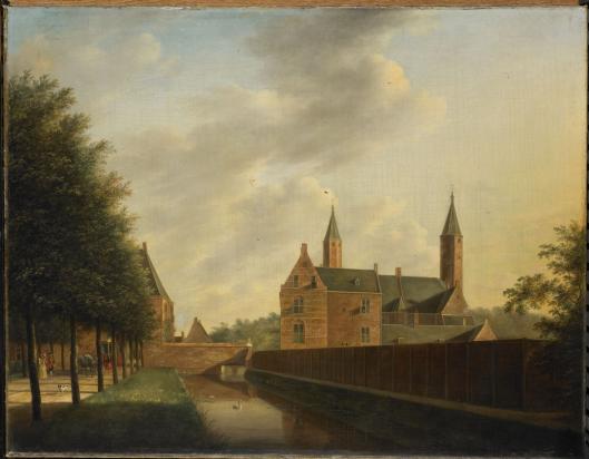Het Huis te Heemstede, geschilderd door Johannes Janson in 1766 (Rijksmuseum)