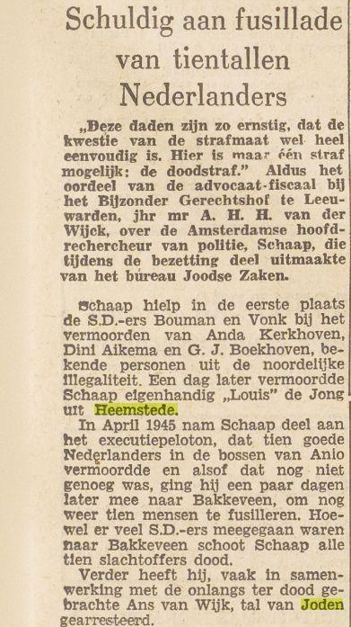 Bericht uit: Het Vrije Volk, 5 oktober 1948