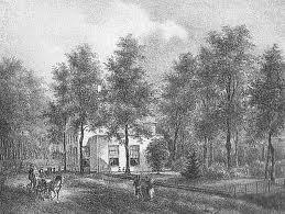Lithografie door P.J.Lutgers van Kennemeroord, circa 1840