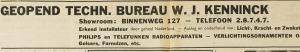 Operning van het Technisch Bureau W.J.Kemminck. Uit: EHC, 11-11-1937