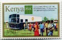 Kenya, IFLA postage stamp, 1984