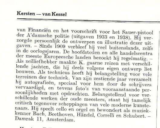 Vervolg biografie dr.L.C.Kersbergen (1938).