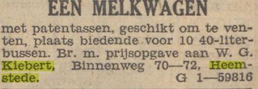 Adv. melkhandel Kiebert, De Tijd, 31-3-1937