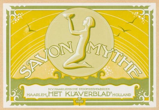 Zeep Savon Myrthe, 1930, Het Klaverblad. Ontwerp van Dirk Hart
