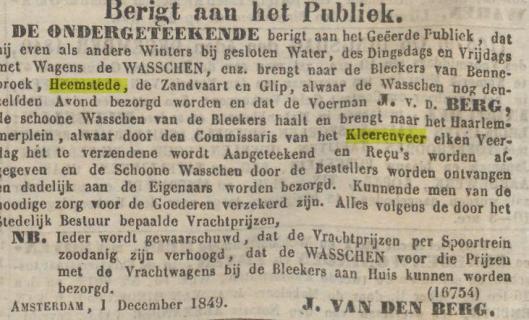 Uit: Algemeen Handelsblad, 3-12-1849