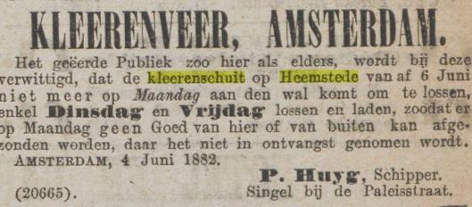 Uit: Algemeen Handelsblad van 5-6-1882