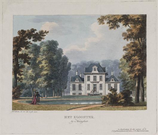 Achterzijde van hofstede 't Klooster door Herman Numan (1794)