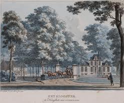 Hofstede 't Clooster; gekleurde prenttekening uit 1794 van H.Numan