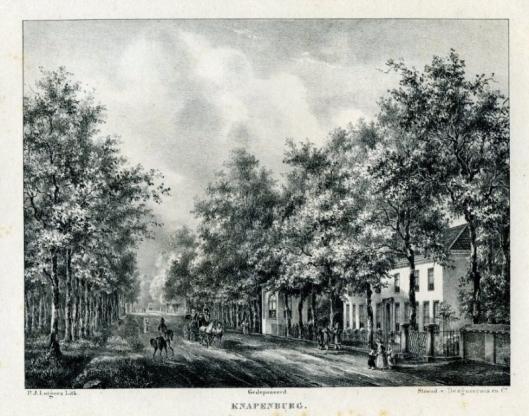 De hofstede Knapenburg aan de Herenweg in Heemstede/ Berkenrode. (P,J,Lutgers, 1837-1844)