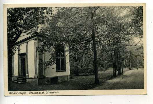 De koepel van Groenendaal op een ansichtkaart uit 1928